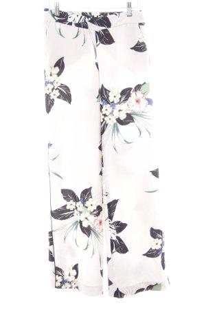 Zara Basic Stoffen broek bloemen patroon casual uitstraling