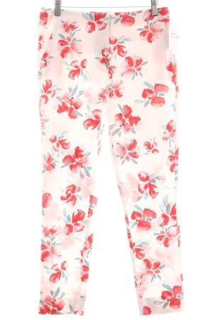 Zara Basic Stoffhose florales Muster Casual-Look