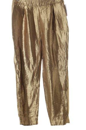Zara Basic Stoffhose goldfarben extravaganter Stil