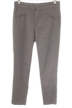 Zara Basic Stoffhose graubraun Hahnentrittmuster Brit-Look
