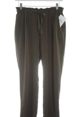 Zara Basic Stoffhose khaki Casual-Look