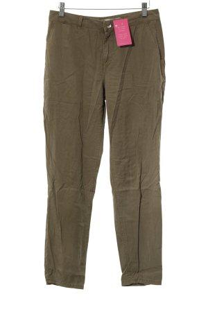 Zara Basic Stoffhose khaki-olivgrün Safari-Look