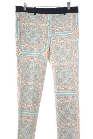 Zara Basic Stoffhose Ornamentenmuster extravaganter Stil