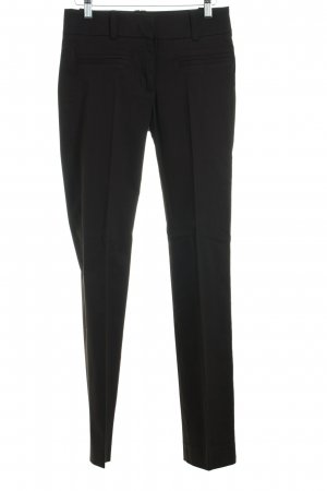 Zara Basic Stoffhose schwarz Business-Look