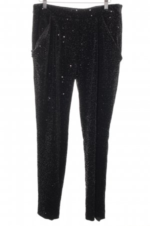 Zara Basic Stoffhose schwarz Elegant