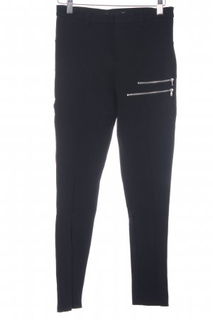Zara Basic Stoffhose schwarz klassischer Stil