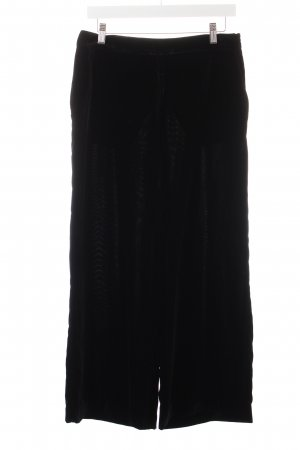 Zara Basic Stoffhose schwarz Samt-Optik