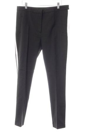 Zara Basic Pantalon en jersey noir-blanc style décontracté