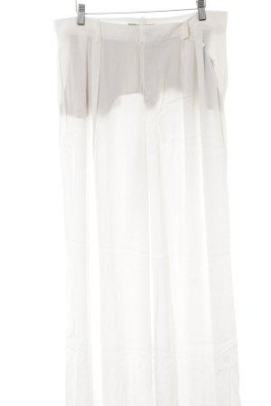 Zara Basic Stoffhose weiß Casual-Look