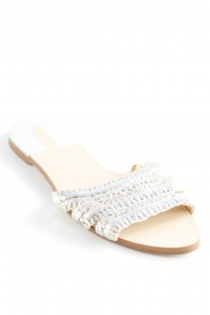 Zara Basic Beach Sandals silver-colored casual look