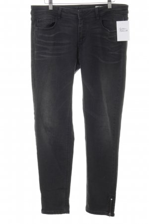 Zara Basic Stretch Jeans dunkelgrau Casual-Look
