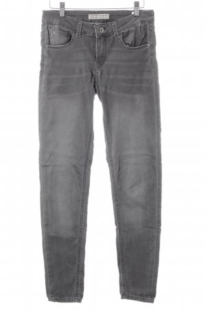 Zara Basic Stretch Jeans grau Washed-Optik