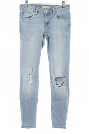 Zara Basic Jeans stretch bleuet gradient de couleur Fixation de logo (en cuir)