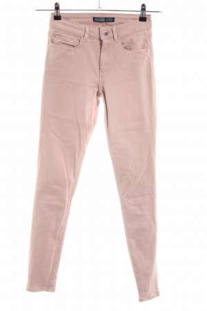 Zara Basic Stretch broek nude casual uitstraling