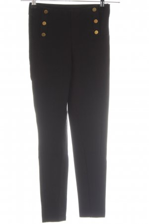 Zara Basic Stretchhose schwarz Business-Look