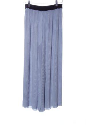 Zara Basic Pantalón elástico azul elegante