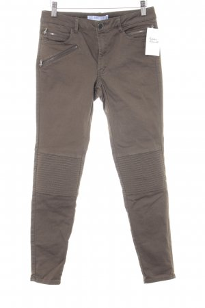 Zara Basic Stretchhose khaki Casual-Look