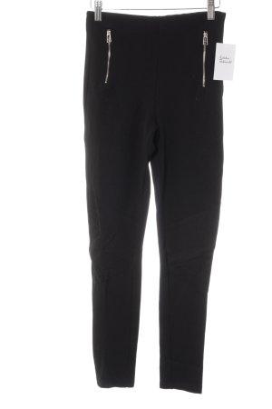 Zara Basic Stretchhose schwarz Casual-Look
