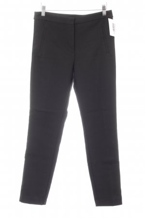 Zara Basic Stretchhose schwarz-weiß Casual-Look