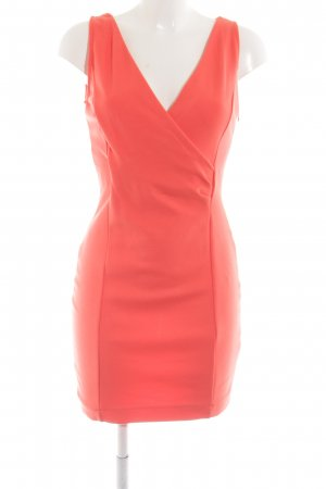 Zara Basic Abito elasticizzato arancione chiaro-rosso stile professionale