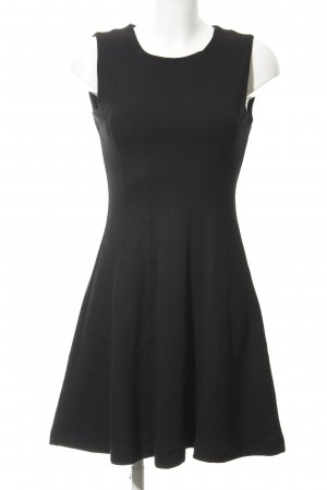 Zara Basic Stretchkleid schwarz Casual-Look