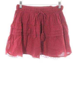 Zara Basic Stretchrock ziegelrot Romantik-Look