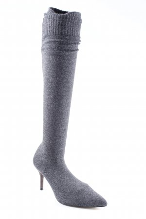 Zara Basic Bottes stretch gris style simple