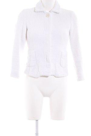 Zara Basic Knitted Blazer white weave pattern business style