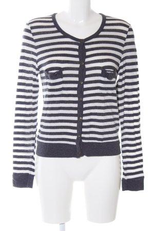 Zara Basic Strickjacke blau-weiß Streifenmuster Casual-Look