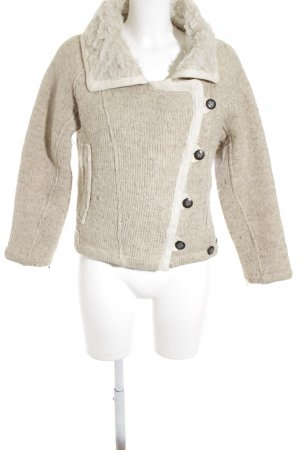 Zara Basic Strickjacke hellbeige-wollweiß Country-Look