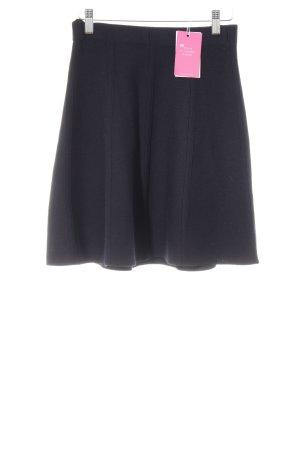 Zara Basic Strickrock dunkelblau Casual-Look