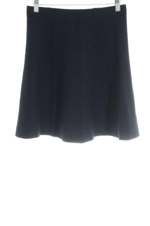Zara Basic Jupe tricotée bleu foncé Motif de tissage style décontracté