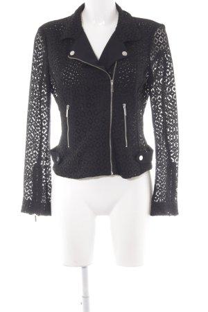Zara Basic Strickweste schwarz Casual-Look