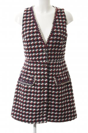 Zara Basic Knitted Vest Vichy check pattern casual look