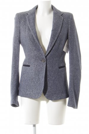 Zara Basic Sweat Blazer pale blue-slate-gray casual look