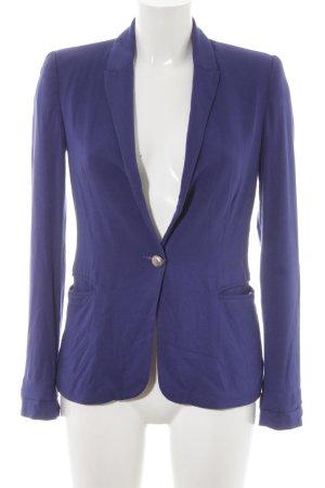 Zara Basic Blazer de tela de sudadera azul look casual