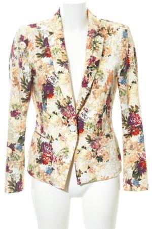 Zara Basic Sweatblazer Blumenmuster Vintage-Look