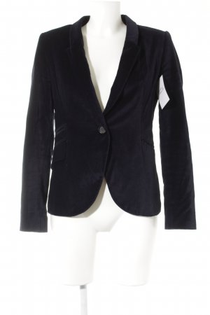 Zara Basic Blazer sweat bleu foncé style simple