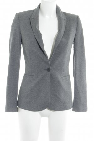 Zara Basic Blazer de tela de sudadera gris moteado elegante