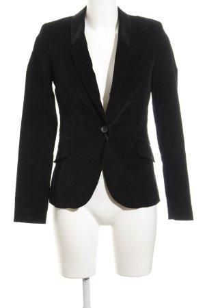 Zara Basic Sweatblazer schwarz-braun Casual-Look