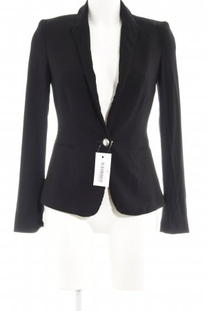 Zara Basic Sweat Blazer black business style