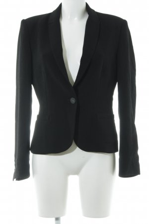 Zara Basic Sweatblazer schwarz Casual-Look