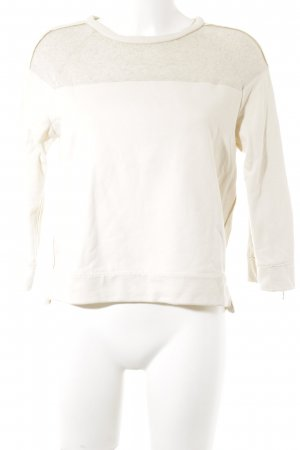 Zara Basic Sweatshirt creme Casual-Look