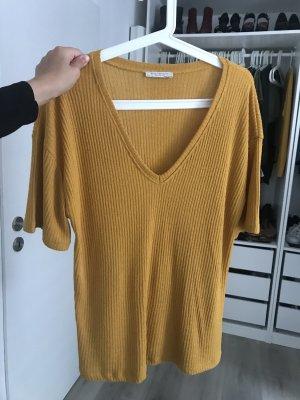 Zara V-Neck Shirt yellow-gold orange