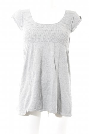 Zara Basic T-Shirt grau Casual-Look