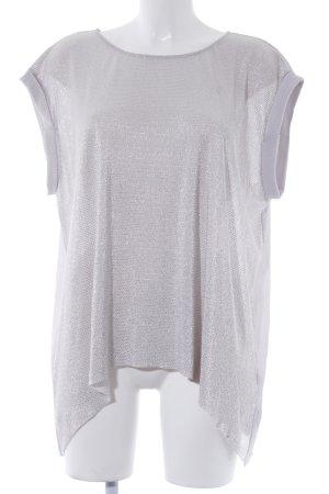 Zara Basic T-Shirt hellgrau Elegant