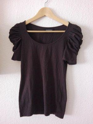 Zara basic T-Shirt mit Pumpärmeln in braun Größe 36 S dunkelbraun