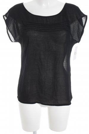 Zara Basic T-Shirt schwarz Casual-Look