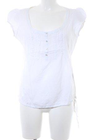 Zara Basic T-shirt wolwit Boho uitstraling