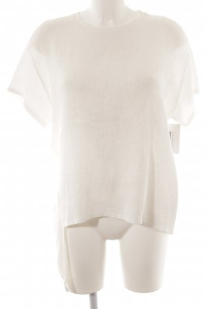 Zara Basic T-Shirt wollweiß Casual-Look